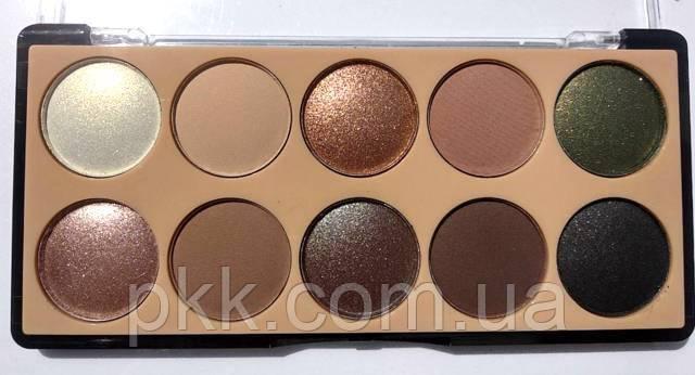 Палетка теней для век MERCI Diamond Eyeshadow матовые и перламутровые 10 цветов M-510 № № 03 Бежевые/коричневы