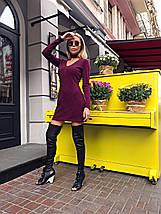 Сукня жіноча ангоровое з чокером AniTi 070, бордовий, фото 2