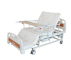 Медичне ліжко з туалетом та функцією бокового перевороту MIRID E20. Ліжко для реабілітації інваліда.