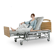 Медичне ліжко з туалетом і боковим переворотом MIRID Е08. Функціональне ліжко. Ліжко для інваліда. Ліжко для реабілітації.
