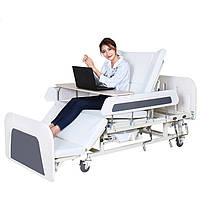 Медичне ліжко з туалетом і боковим переворотом MIRID Е55 для тяжкохворих. Функціональне ліжко. Ліжко для реабілітації.