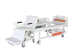 Медичне функціональне електроліжко W01. Вбудоване інвалідне крісло. Ліжко з туалетом.