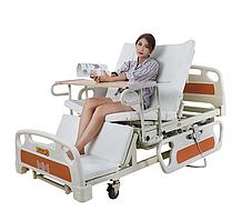 Медицинская функциональная кровать с туалетом и боковым переворотом MIRID E39. Кровать для высоких людей.