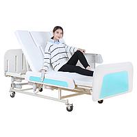 Медичне функціональне електроліжко з туалетом MIRID E36. Широке ліжко для інваліда. Ліжко для реабілітації.