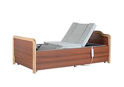 Медичне функціональне електро ліжко з туалетом і боковим переворотом MIRID Е101. Ліжко з регулюванням висоти ложа. Для інвалідів.