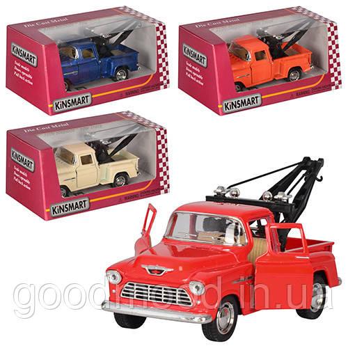 Машинка KT 5378 W інерц., мет., евакуатор,1:32,відчин. двері,гумові колеса,4 кольори,кор.,16-7-8,5 см