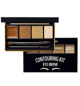 Набор для контуринга бровей Etude House Brow Contouring Kit # 1 Natural Brown 3.8 г