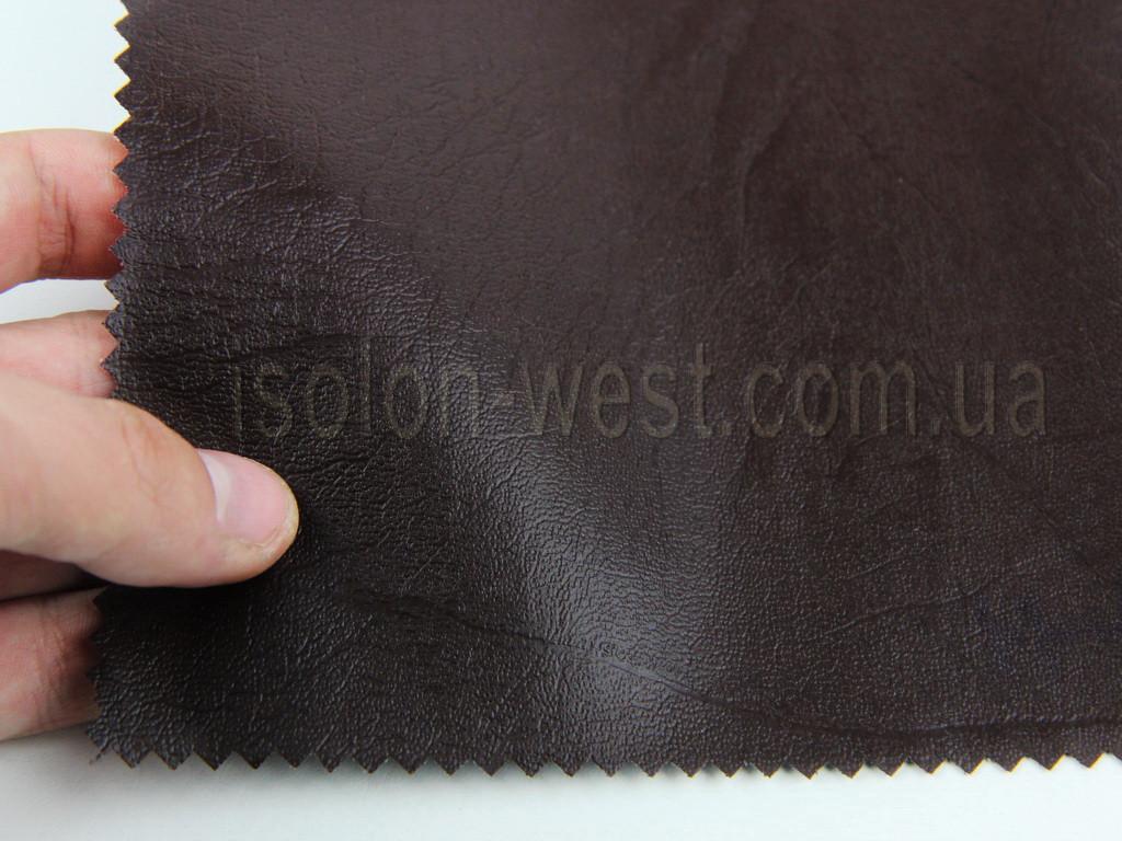 Кожвініл меблевий гладкий (темно-коричневий Н-11) для перетяжки м'якого куточка, дивана, крісел, ширина 1.40 м