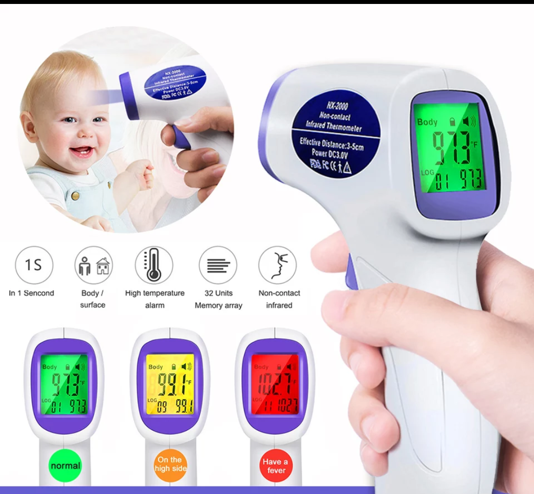 Термометр бесконтактный, медицинский пирометр для тела, градусник