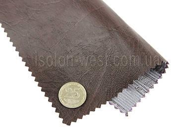 Кожвинил мебельный гладкий (коричневый Н-29) для перетяжки мягкого уголка, дивана, стульев, ширина 1.40м