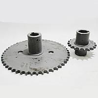 Комплект звездочек для уменьшения оборотов барабана  Z-49 и Z-19 54-151В-01 Нива СК-5, фото 1
