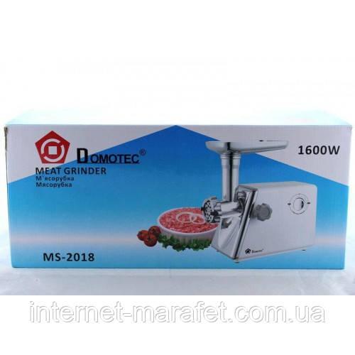 Мясорубка DOMOTEC MS-2018 W/B 1600 Вт