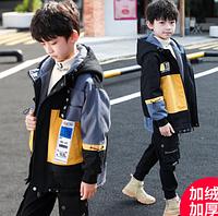 Осіння куртка для хлопчиків / Куртка для мальчиков, детская одежда, стеганая, толстая повседневная ветрова