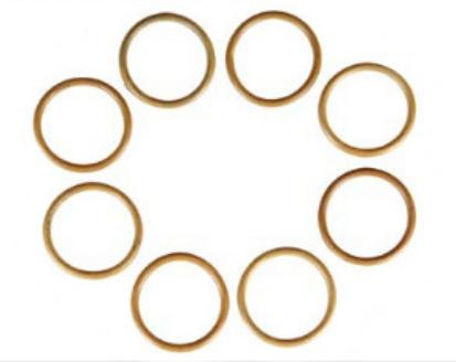 Набор кольца фланцевых уплотнений ГСТ-90 (фторкаучук)