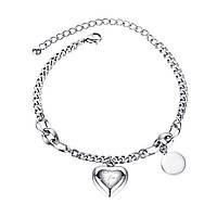 """Жіночий браслет """"Медальйон"""" сталевий"""