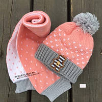 Набор детский шапка шарф осень холодная зима шапка дитяча набір дитячий осінь зима