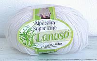 Lanoso Alpacana Super Fine белый № 955