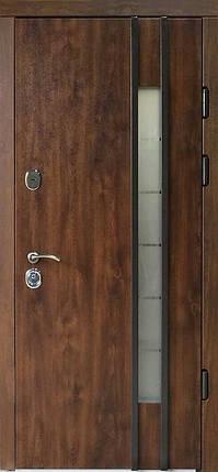 Наружные  металлические входные двери Редфорт  (Redfort) Авеню со стеклом на улицу, фото 2