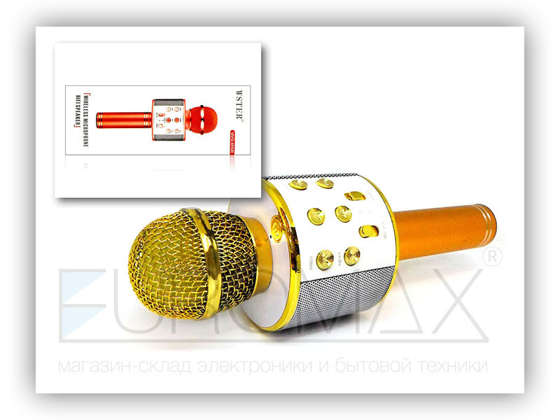 Микрофон караоке (цвета) 40шт WS858-40