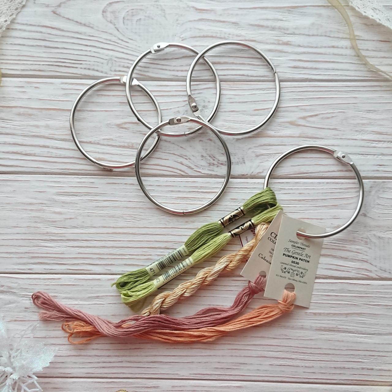 Кольцо для мулине, бобин (шпуль) 7,8 мм серебро