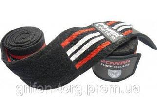 Бинти на коліна Power System Knee Wraps PS-3700 Red/Black