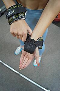 Гаки для тяги на зап'ястя Power System Hooks V2 PS-3360 Black/Yellow XL