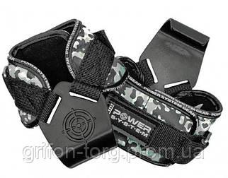 Гаки для тяги на зап'ястя Power System Hooks Camo PS-3370 Black/Grey L