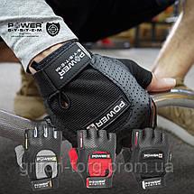 Перчатки для фитнеса и тяжелой атлетики Power System Power Plus PS-2500 XL Black/Red, фото 3