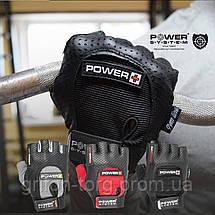 Перчатки для фитнеса и тяжелой атлетики Power System Power Plus PS-2500 S Black/Red, фото 3