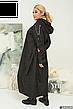 Плащ женский длинный с капюшоном размеры: 52-66, фото 3