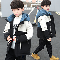 Зимова куртка для хлопчиків / Детская одежда, зимнее пальто для мальчиков, утепленная куртка на толстом пуху