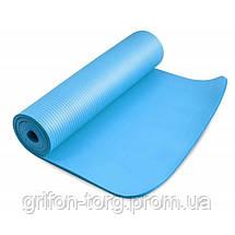 Коврик для йоги и фитнеса Power System  PS-4017 FITNESS-YOGA MAT Blue, фото 2