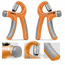 Эспандер кистевой-пружинный ножницы Power System PS-4021 Power Hand Grip Orange, фото 2