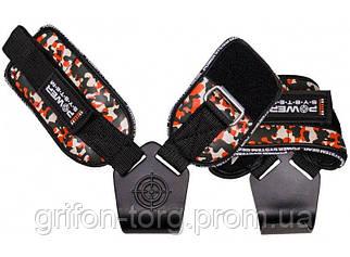 Гаки для тяги на зап'ястя Power System Hooks Camo PS-3370 Black/Red L