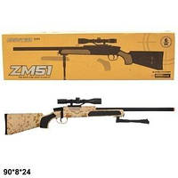 Игровая винтовка снайперская CYMA ZM51W с пульками,лазер.прицелом метал+пластик