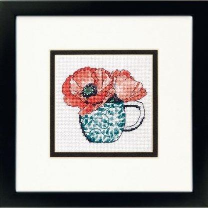 "Набор для вишивання гобеленом ""Floral Teacup//Цветочная чашка"" DIMENSIONS 71-07247"