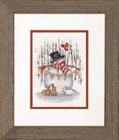 "Набор для вишивання ""Радостный снеговик//Joyful Snowman""DIMENSIONS 70-08984"