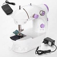 Мини швейная машинка zimber зингер sewing machine 4 в 1 Портативная компактная  электрическая ручная бытовая