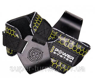Гаки для тяги на зап'ястя Power System Hooks V2 PS-3360 Black/Yellow L