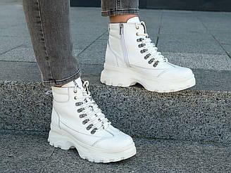 Ботинки женские кожаные осенние   36-40 белый