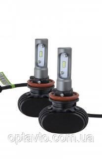 LED лампы Н8/ H9/ H11 6000K 4000Lm. Светодиодные лампы. Тип охлаждения - радиатор.Гарантия. Корея