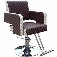 Крісло перукарське Magik на пневматиці з хромованою хрестовиною