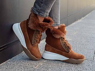 Ботинки женские кожаные осенние   36-40 коричневый