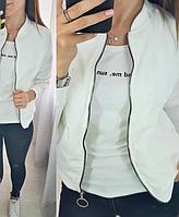 Коротка курточка жіноча прямого крою на блискавці