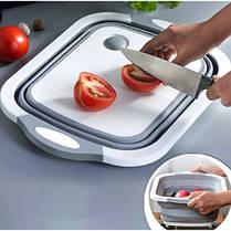 Складная силиконовая разделочная доска миска 2 в 1 для овощей и фруктов  Chopper (Реплика), фото 2