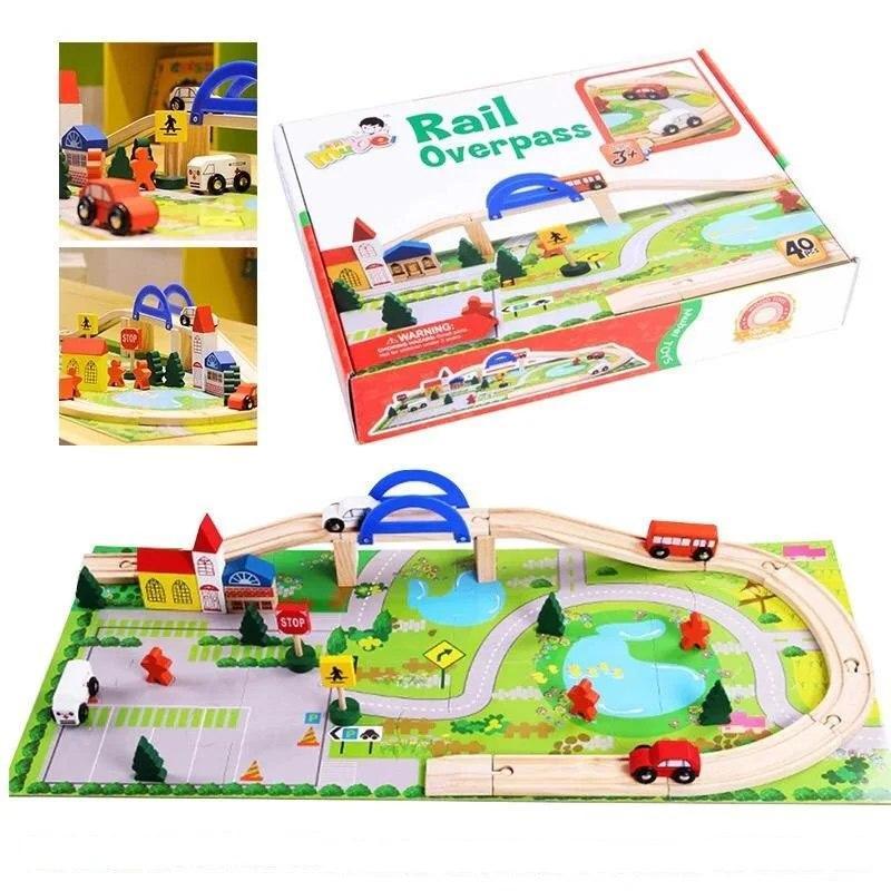 "Іграшка деревяна ""Автодорога"", Развивающая игрушка ""Автодорога"""