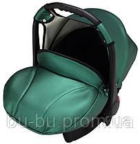 Автокресло Bair Carlo кожа 100% CP-35 зеленый перламутр