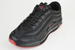 Кросівки BaaS CROOS 8002 чорні чоловічі екокожа/текстиль р. 41-45