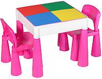 Стол и 2 стульчика Tega Mamut 899P dark pink-white, фото 1