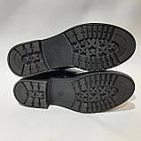 40 р. Ботинки женские весенние из эко-кожи Черный Последняя пара, фото 8